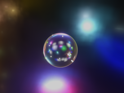 Crystal Ball planet sphere dreamy render 3d animation