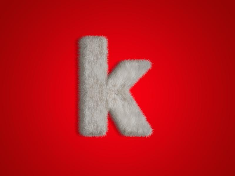 K red k letter fur type