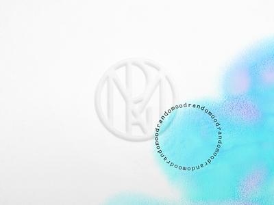 Randomood Monogram Logo watercolors randomood print emboss stamp monogram logo