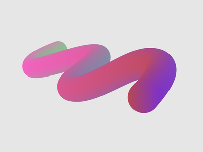 Abstract Shapes Series illustration 3d gradient abstract