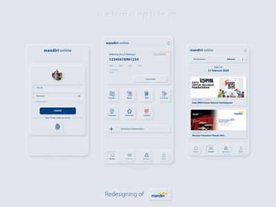Neumorphism For Mandiri Online App By Ichanfadhil On Dribbble