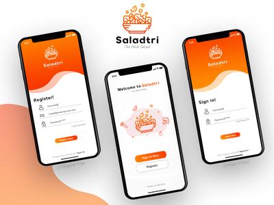 Saladtri Login Page