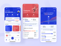 Invest your future 🤩 investments interaction simple design vivid colors financial app finance app illustration design app design ui