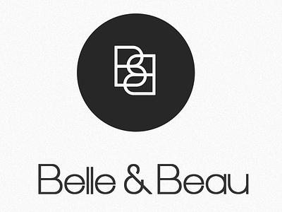Belle&Beau Logo maternity wear kid swear typography branding logo