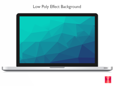 Low Poly Effect Background low poly effect sea green geometric wallpaper background cyan