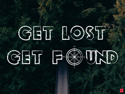 Get Lost Get Found !!! forest positive found peace compass travel wallpaper