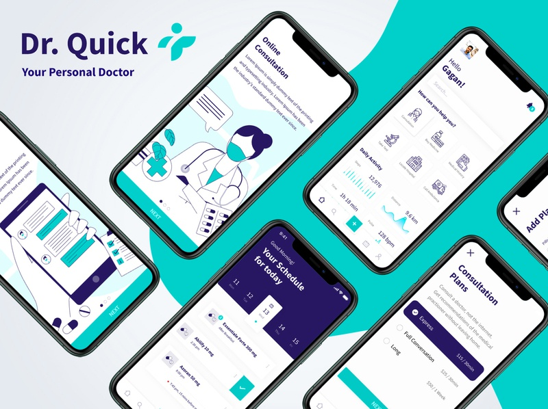 : Dr. Quick - A fictional app design to consult the doctor saas product saas mobile app design reminder ui reminder app ui reminder app ui reminder app mobile design medical care design medical care medical app saas landing page saas design saas app mobile application doctor app design doctor app ui doctor app mobile app design mobile ui mobile app