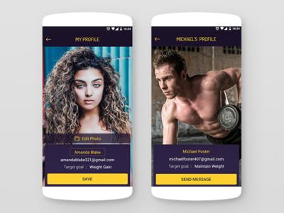 Fitness Diet App (Profile View)