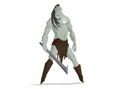 Orc orc creative tolkien hobbit flat earth middle design character illustration