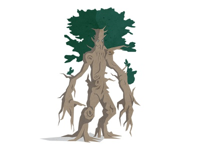 Ent ent creative tolkien hobbit flat earth middle design character illustration