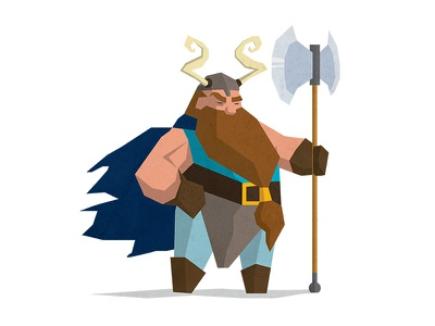 Dwarf dwarf creative tolkien hobbit flat earth middle design character illustration