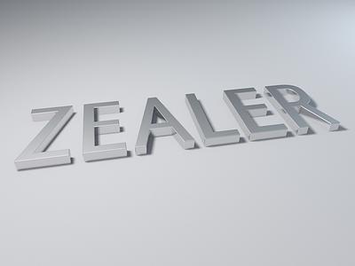 ZEALER 3d logo typeface cinema 4d type typography font typographic