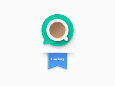 Meiqia Old Logo - loading logo 404 error coffee cup loading