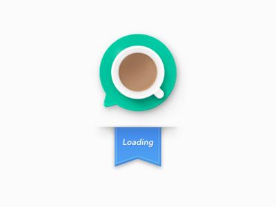 Meiqia Old Logo - loading logo 404 error coffee cup loading