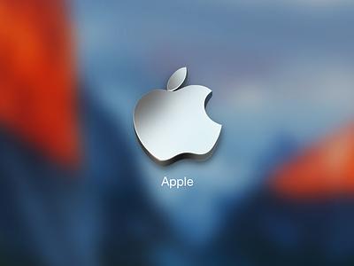 Apple Logo icon metal apple logo