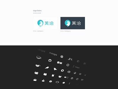 Meiqia New Logo & Typeface typeface bubble parrot logo