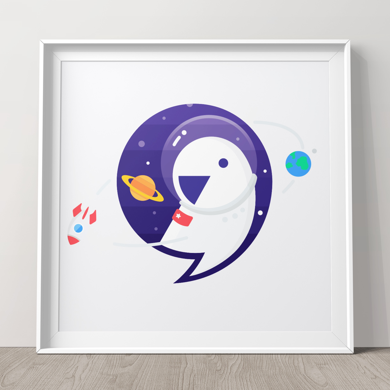 Astronaut parrot