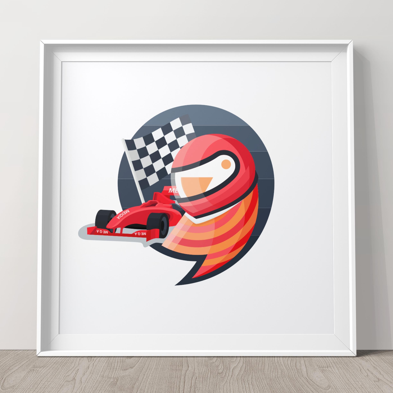 Racing driver parrot
