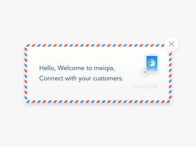 Meiqia Envelope invitation invite mail envelope