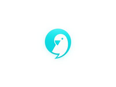 Meiqia Gradient Logo icon skeuomorphism logo