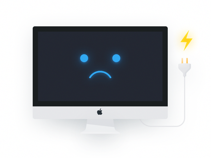No Power iMac illustration imac mac power power out