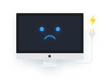 No Power iMac illustration imac mac power power out