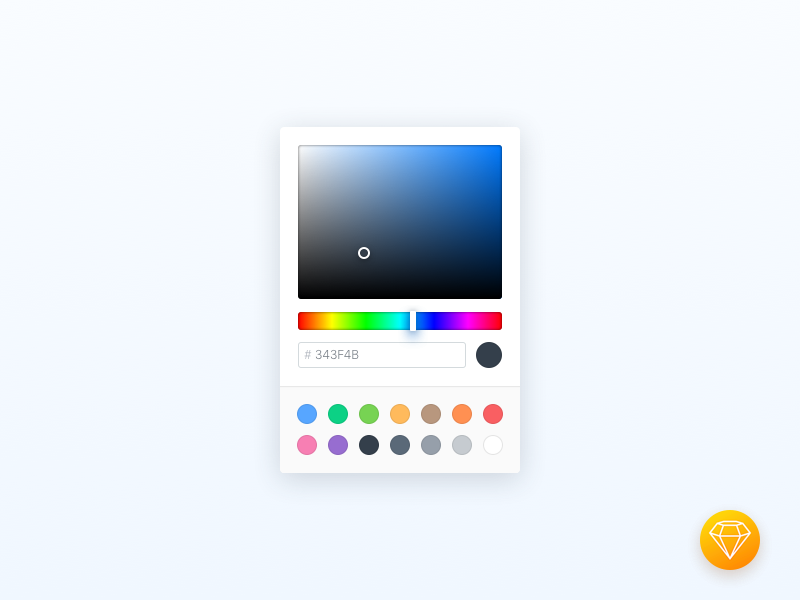 Colour Picker (Sketch Freebie) freebie colors custom free ui sketch colour picker colour