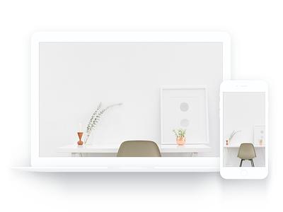 MacBook & iPhone White Mockup free sketch clean mockup white iphone macbook