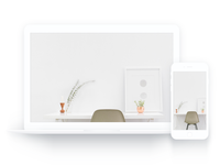 MacBook & iPhone White Mockup free sketch clean mockup white iphone macbook
