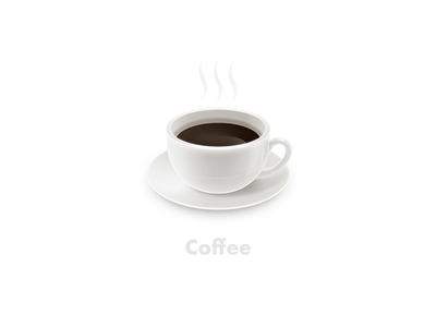Coffee photoshop illustration icon cup coffee