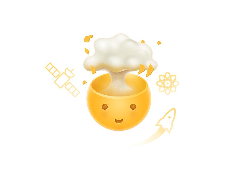 Creativity exploding explosion icon illustration graphics creativity