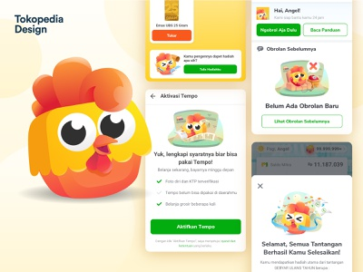 Mitto - Mitra Tokopedia Mascot illustrator icon logo ux vector ui mascot illustration design branding