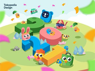 Wishing for an Extraordinary 2021! 2021 new year vector design tokopedia mascot illustration branding