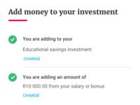 Add money process