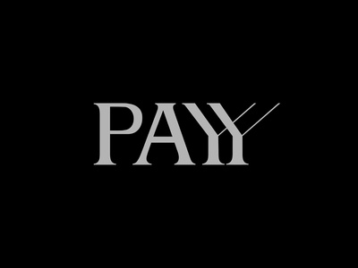 PAYY black and white logos abstract illustration logotype graphic design typography identity logo design art direction design branding