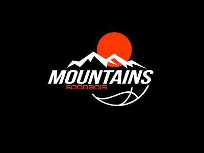 Goodbois FW19 Mountains mobile outdoor sport illustration logotype graphic design typography logo logo design identity art direction design branding