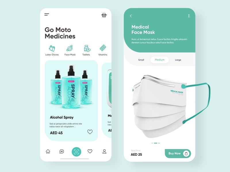 Surgical Equipments Mobile App UX UI Design vaccine tablets gloves alcohol trending 2020 creative design minimal clean ui dashboard app medical app face mask coronavirus covid-19 surgical mask mobile apps mobile design medicine