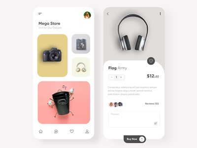 Mega store Mobile APP UX-UI Design graphic modern design 2020 trends android app design ios mobile app creative design t-shirt design camera app online shopping online store store app ux ui design mobile app minimal illustration design top ux ui designer dubai designer