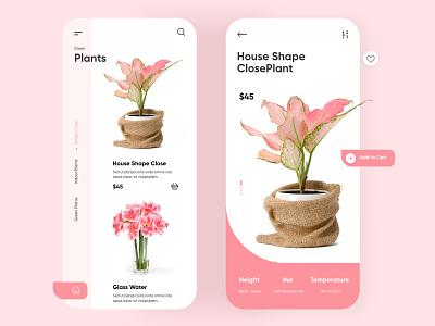 Plant Mobile App UX-UI Designs modern design 3d design trends 2020 android app ios app photoshop adobe xd minimalistic ui design web design minimal illustration creative design mobile app top ux ui designer dubai designer