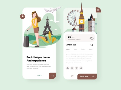 Travel App UX-UI Design product design mobile webdesign branding android app ios apps tours holidays london eye uxdesign trending vacations traveling travel app ui design mobile app illustration creative top ux ui designer dubai designer