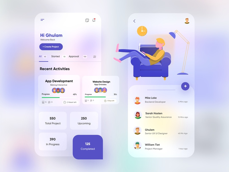 Project Management Transparent UX-UI Design blur task app ux ui design dribbble best shot scrum product design mobile ui mobile task management project management ui design branding illustration minimal web design dubai designer top ux ui designer mobile app