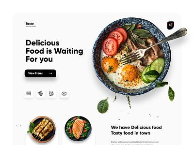 Food Mobile APP Landing UX-UI Design landing page web interface webdesign homepage illustration uidesign ui website design
