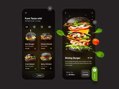 Food Delivery - Mobile App ux  ui healthy food product design typography ios app design android app trending restaurant food blur creative web design minimal branding top ux ui designer illustration mobile app dubai designer