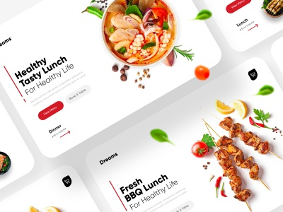 Food Landing Page UX/UI Design landing page web interface webdesign homepage illustration uidesign ui website design