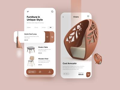 Furniture Mobile APP UX/UI Design mobile app ui design minimal mobile ux ui design mobile apps mobile ui mobileapp mobileappdesign app interface ui uiux ux