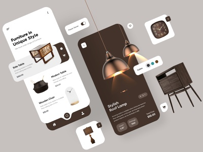 Furniture Mobile app UX UI Design mobile app ui design minimal mobile ux ui design mobile apps mobile ui mobileapp mobileappdesign app interface ui uiux ux