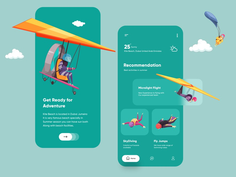 Sky Sports Mobile App sports illustration design web desgin branding ux ui ui design vector web design minimal mobile app illustration cards skydiving dribbble dubai designer top ux ui designer