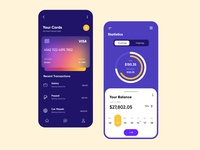Finance Mobile App UX-UI Design date picker blur chart design web design typogaphy banking finance mobile app design finance app ux ui design illustration branding vector minimal design creative dubai designer mobile app top ux ui designer