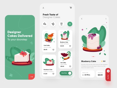 Cakes Mobile App UX-UI Design mobile app ui design minimal mobile ux ui design mobile apps mobile ui mobileapp mobileappdesign app interface ui uiux ux