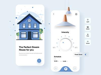 Smart Home Mobile App mobile app ui design minimal mobile ux ui design mobile apps mobile ui mobileapp mobileappdesign app interface ui uiux ux